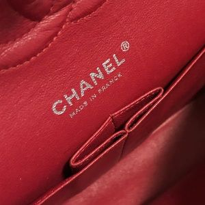 CHANEL Bags - CHANEL Red Quilted Lambskin Medium Double Flap